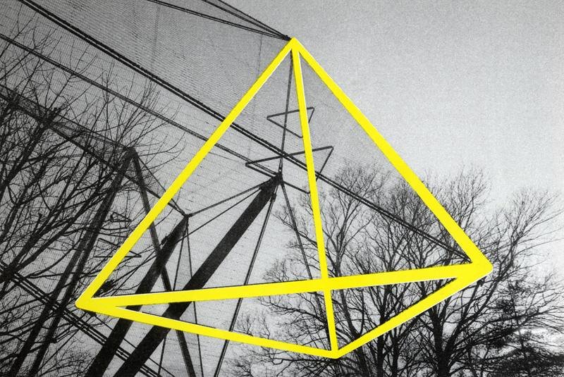 Pyramid 2 (Snowdon Aviary, 1964 Series), 2-colour Risograph print on paper, 2013